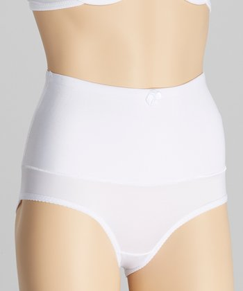 White Bow High-Waisted Control Briefs - Women & Plus