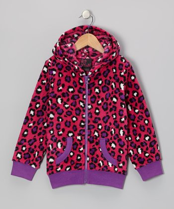 Fuchsia Cheetah Zip-Up Hoodie - Toddler & Girls