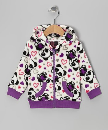 White Panda Zip-Up Hoodie - Infant & Toddler