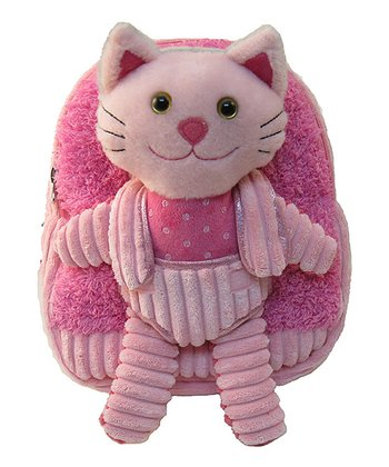 Pink Cat Plush Backpack