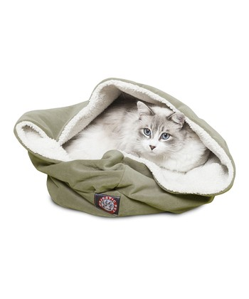 Sage Suede Burrow Pet Bed