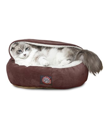 Chocolate Canopy Pet Bed