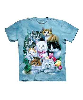 Blue Kittens Tee - Toddler & Girls