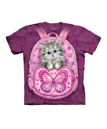 Magenta Backpack Kitty Tee - Toddler & Kids