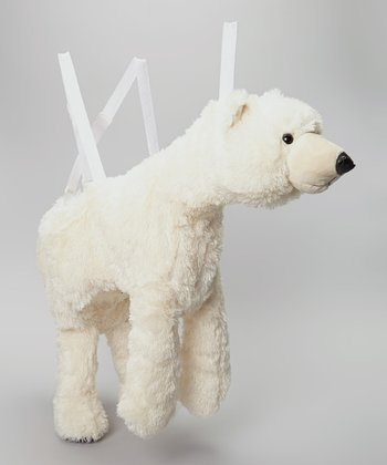 White Polar Bear Wrap & Ride Dress-Up Outfit