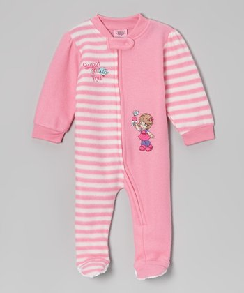 Pink 'Sweet on You' Footie - Infant & Toddler
