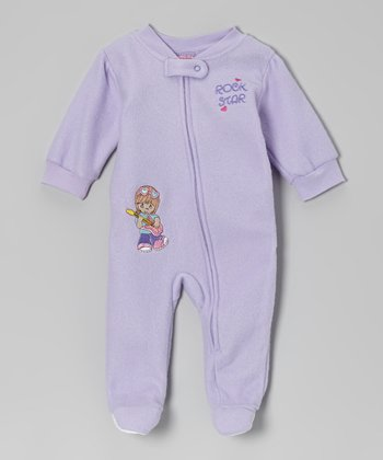 Lavender 'Rock Star' Footie - Infant & Toddler