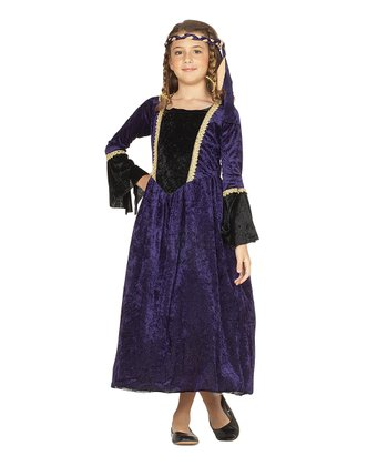RG Costumes Purple Renaissance Girl Dress-Up Outfit - Kids