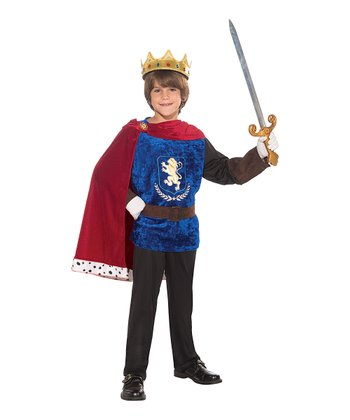 Blue & Red Prince Charming Dress-Up Set - Boys