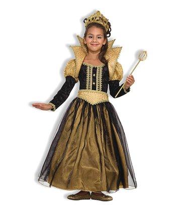 Forum Novelties Gold & Black Renaissance Princess Dress-Up Outfit - Girls