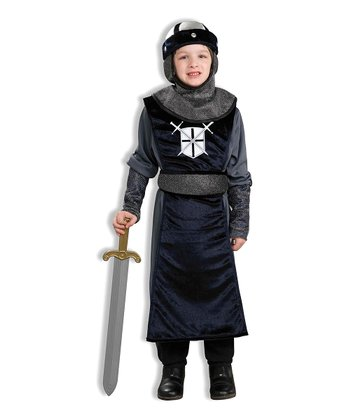 Black Roundtable Knight Dress-Up Outfit - Boys
