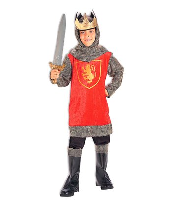 Red & Silver Crusader King Dress-Up Outfit - Boys