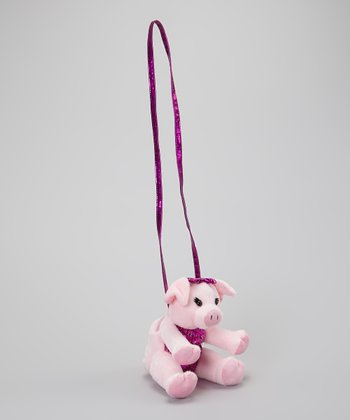 Fuchsia Piggy Crossbody Bag