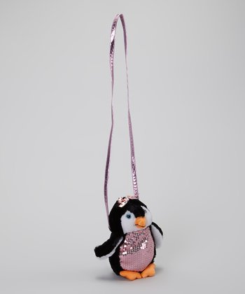 Pink Penguin Crossbody Bag