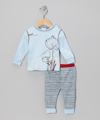 Blue 'It's My Planet 2' Organic Long-Sleeve Tee & Pants - Infant