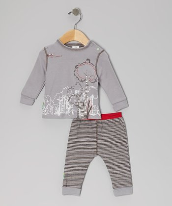 Stone 'It's My Planet 2' Organic Long-Sleeve Tee & Pants - Infant