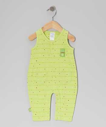 Green Star Twinkle Romper - Infant