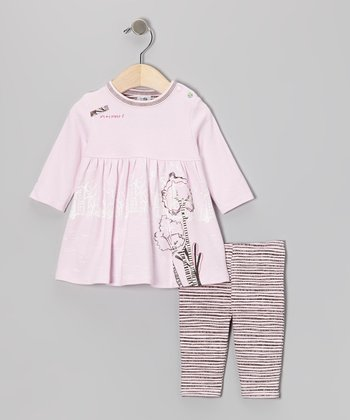 Pink 'It's My Planet 2' Organic Dress & Tights - Infant