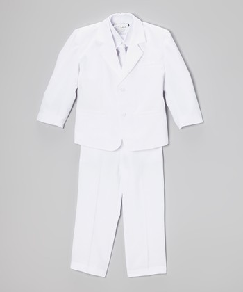 White Five-Piece Suit - Toddler & Boys