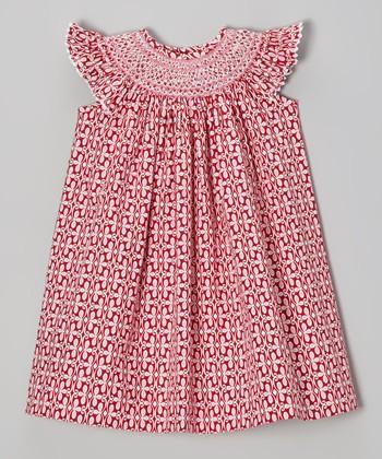 Red Valentine Angel-Sleeve Dress - Infant, Toddler & Girls
