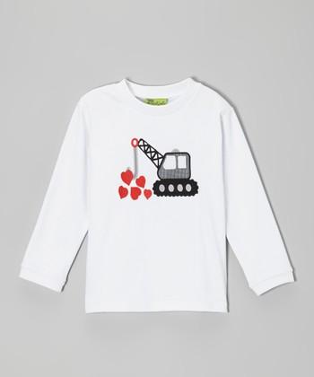 White Crane Heart Tee - Infant, Toddler & Boys