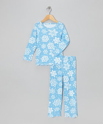 Blue Snowflake Pajama Set - Infant, Toddler & Kids