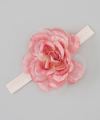 Truffles Ruffles Pink Rose Headband