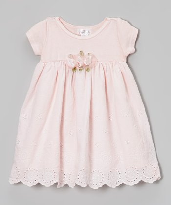 Truffles Ruffles Pink Adelle Eyelet Dress - Infant