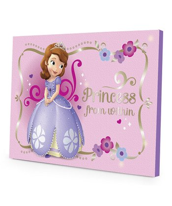 Sofia the First 'Princess From Within' LED Canvas Wall Art