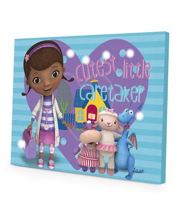 Doc McStuffins 'Cutest Little Caretaker' LED Canvas Wall Art