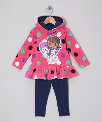 Pink Doc McStuffin Skirted Hoodie & Leggings - Toddler & Girls