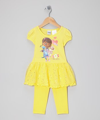 Yellow Doc McStuffin Skirted Tunic & Leggings - Toddler & Girls