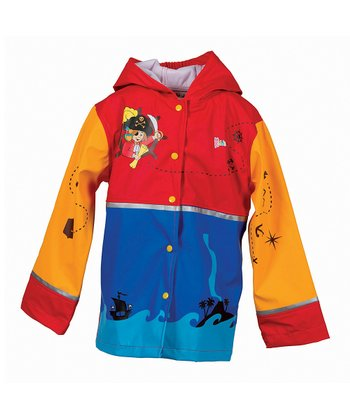 Red & Blue Pirate Raincoat - Toddler & Kids