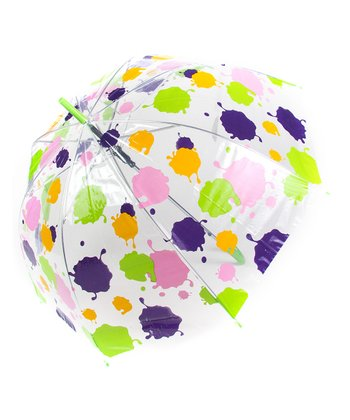 Purple & Pink Splatter Dome Umbrella
