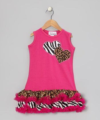 Pink Wild At Heart Ruffle Dress - Infant, Toddler & Girls
