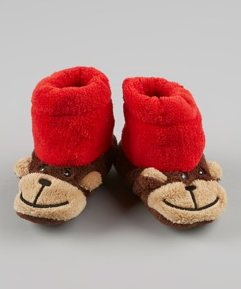 Red & Brown Monkey Slipper