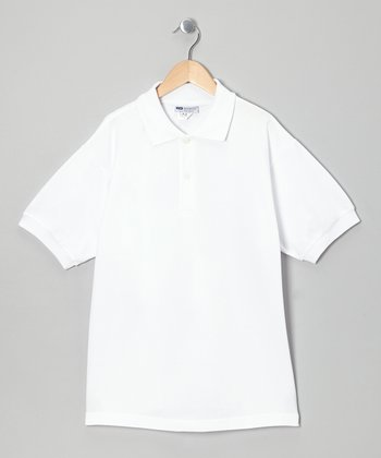 White Tennis Polo - Boys