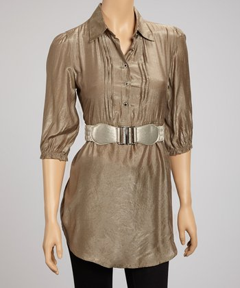 Tan Chambray Tunic