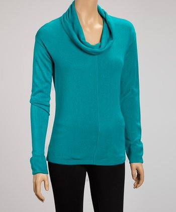 Emerald Cowl Neck Top