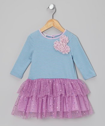 Blue & Purple Tutu Dress - Girls