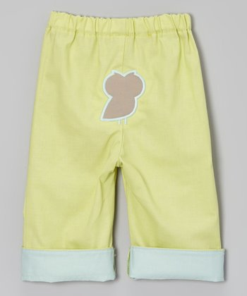 Lime Brites Owl Pants - Infant & Toddler