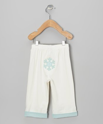 Mist Whites Snowflake Pants - Infant & Toddler