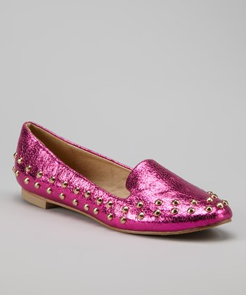 Fuchsia Studded Loafer