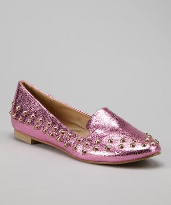 Pink Studded Loafer
