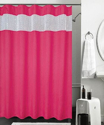 Pink Sequin Burka Shower Curtain