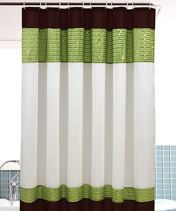 Green Sequin Bahamas Shower Curtain
