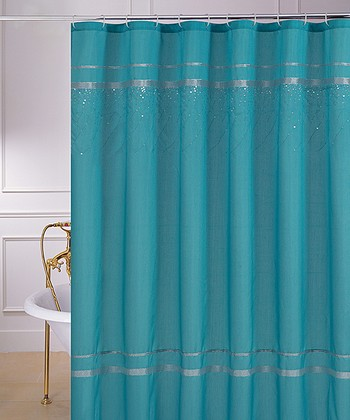 Gallery for gt turquoise and brown shower curtain