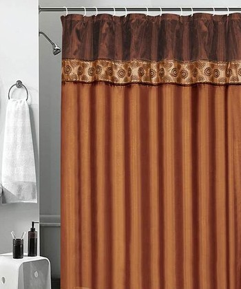 Cinnamon Embroidered Donna Shower Curtain