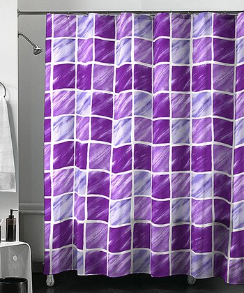 Purple Franklin Shower Curtain Set