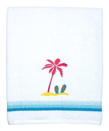 White Miami Beach Bath Towel